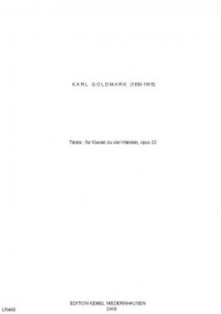 Tanze : fur Klavier zu vier Handen, opus 22