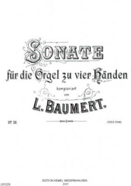 Sonate : fur die Orgel zu vier Handen, op. 50