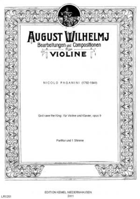 God save the King : fur Violine und Klavier, opus 9
