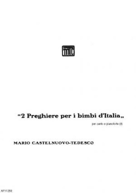 Due preghiere per i bimbi d'Italia : per canto e pianoforte, 1923