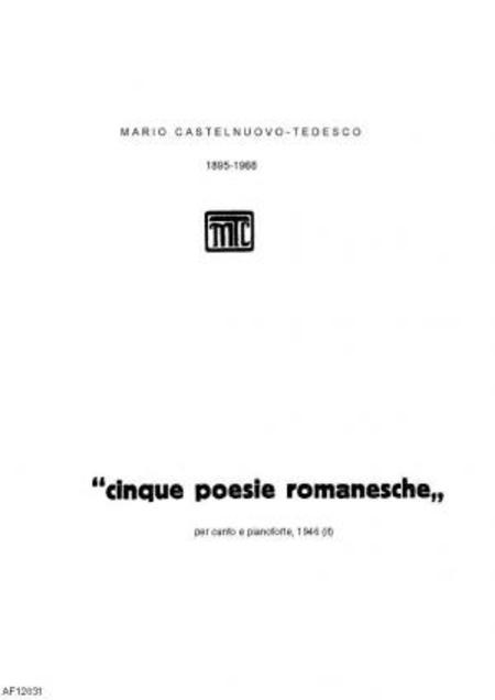 Cinque poesie romanesche : per canto e pianoforte, 1946