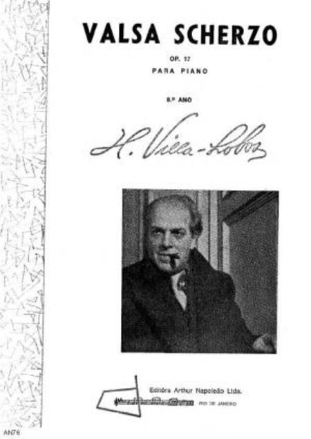 Valsa scherzo : para piano, op. 17