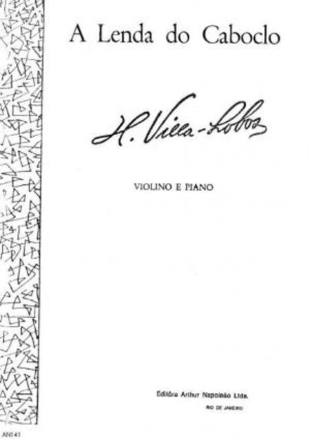 A lenda do caboclo : para violino e piano, 1920