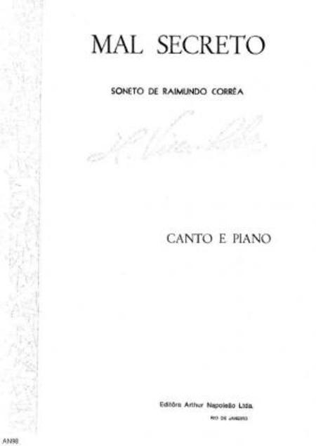 Mal secreto : soneto : canto e piano, 1913