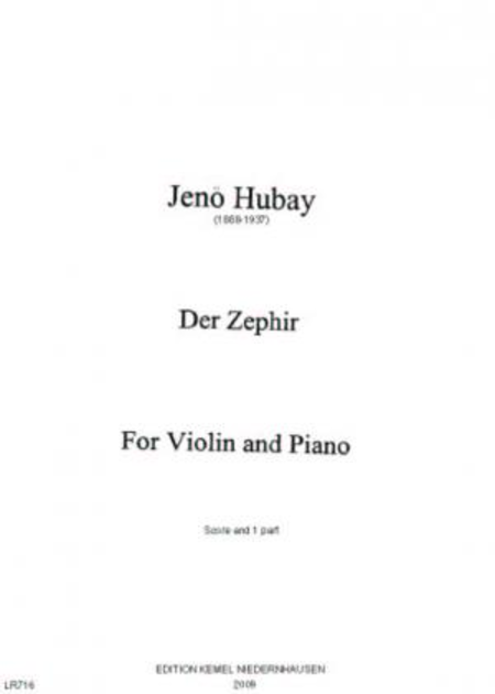 Der Zephir : for violin and piano, op. 30 no. 5