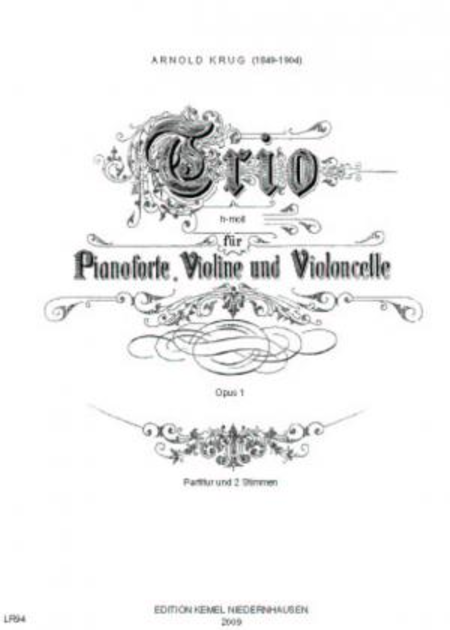 Trio h-moll : fur Pianoforte, Violine und Violoncelle, opus 1