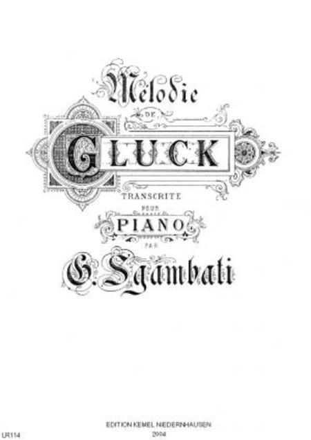 Melodie de Gluck : pour piano
