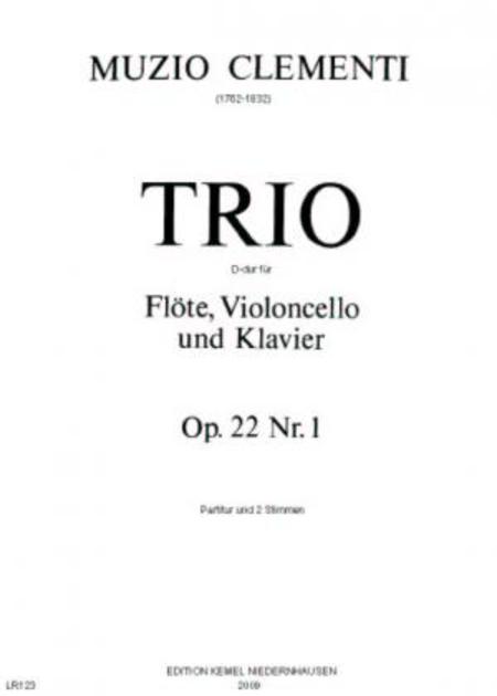 Trio D-dur : fur Flote, Violoncello und Klavier, op. 22, Nr. 1