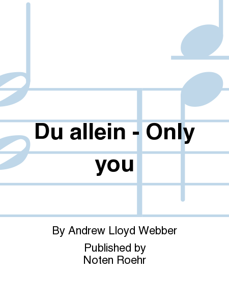 Du allein - Only you