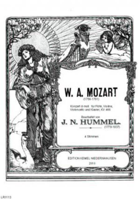 Konzert d-moll : fur Flote, Violine, Violoncello und Klavier, KV 466