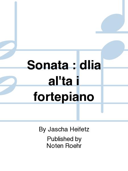 Sonata : dlia al'ta i fortepiano