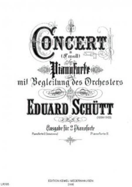 Concert F moll : fur Pianoforte mit Begleitung des Orchesters, op. 47 (Klavierauszug)