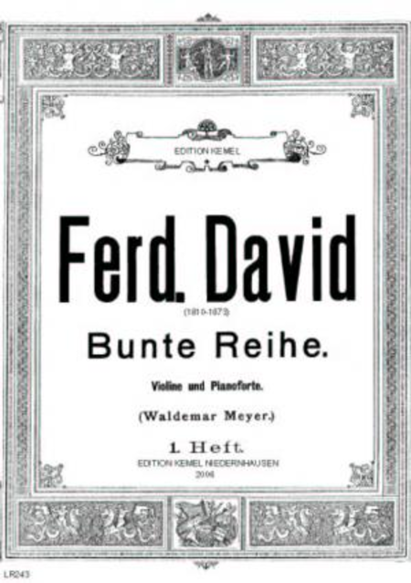Bunte Reihe : 24 Stucke fur Violine und Pianoforte, op. 30 : 1. Heft, No. 1-12