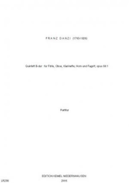 Quintett B-dur : fur Flote, Oboe, Klarinette, Horn und Fagott, opus 56:1