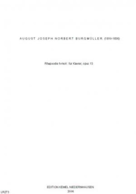 Rhapsodie h-moll : fur Klavier, opus 13