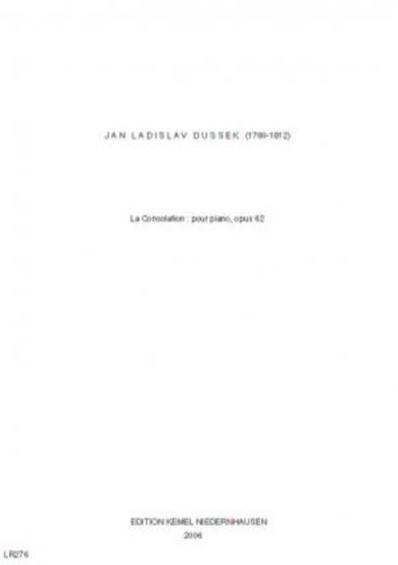 La consolation : pour piano, opus 62