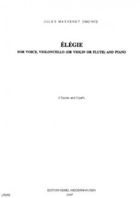 Elegie : for voice, violoncello or violin or flute and piano