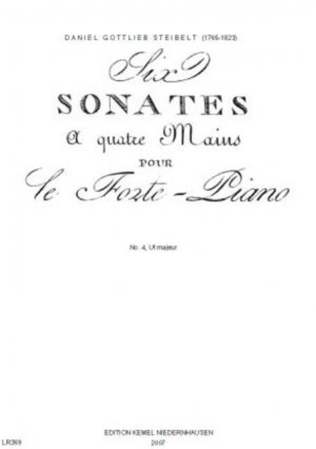 Six sonates : a quatre mains pour le fortepiano : no. 4, Ut majeur