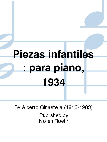 Piezas infantiles : para piano, 1934