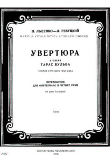 Overture to the opera Taras Bulba : for piano