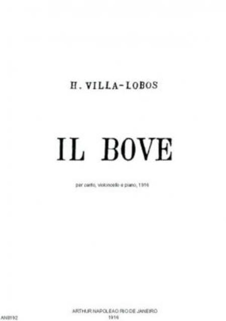 Il bove : per canto, violoncello e piano, 1916