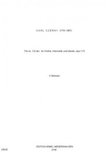 Trio no. 3 E-dur : fur Violine, Violoncello und Klavier, opus 173