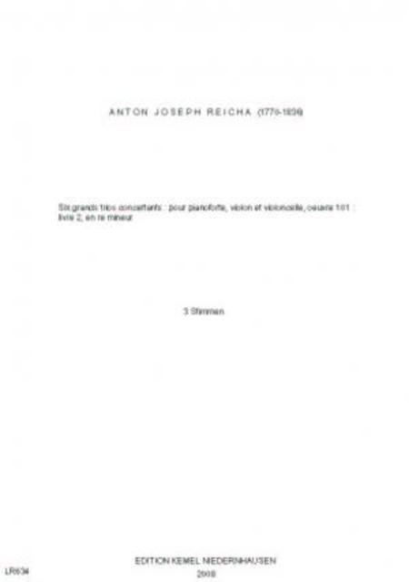 Six grands trios concertants : pour pianoforte, violon et violoncelle, oeuvre 101 : livre 2 en re mineur