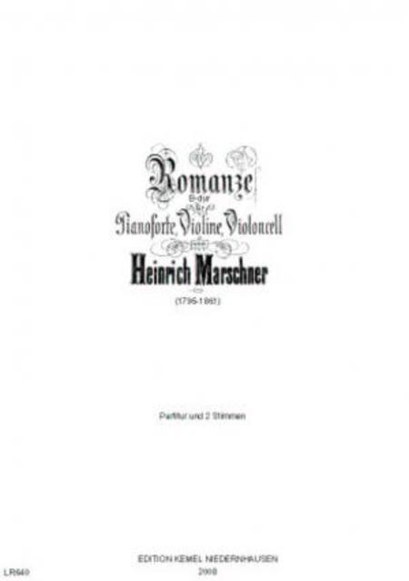 Romanze B-dur : fur Pianoforte, Violine, Violoncell