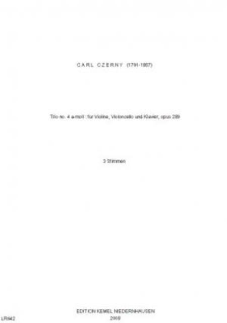 Trio no. 4 a-moll : fur Violine, Violoncello und Klavier, opus 289