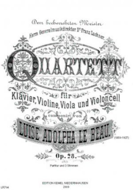 Quartett : fur Klavier, Violine, Viola und Violoncell, op. 28