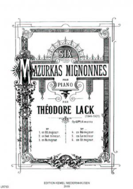 Six mazurkas mignonnes : pour piano a 4 mains, op. 63bis