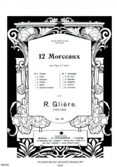 Douze morceaux : pour piano a 4 mains, op. 48