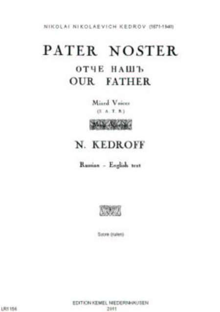 Pater noster - Otche nash' - Our Father : mixed voices SATB