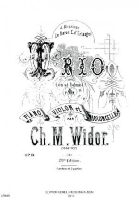 Trio en si bemol majeur : pour piano, violon et violoncelle, op. 19