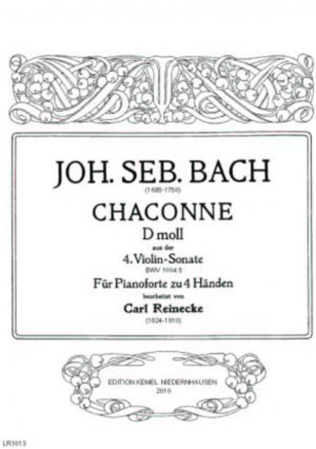 Chaconne d Moll : aus der 4. Violin-Sonate : fur Pianoforte zu 4 Handen, BWV 1004:5