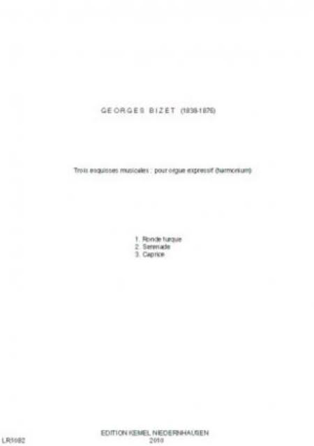 Trois esquisses musicales : pour orgue expressif (harmonium)