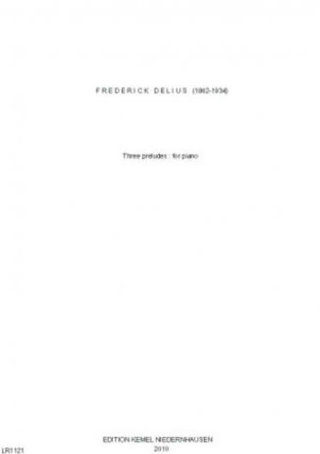Three preludes : for piano