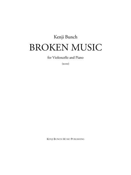 Broken Music (score and part)