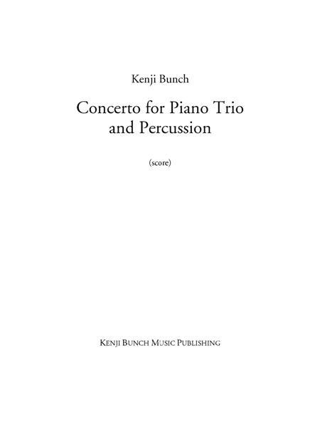 Concerto for Piano Trio and Percussion (score and parts)