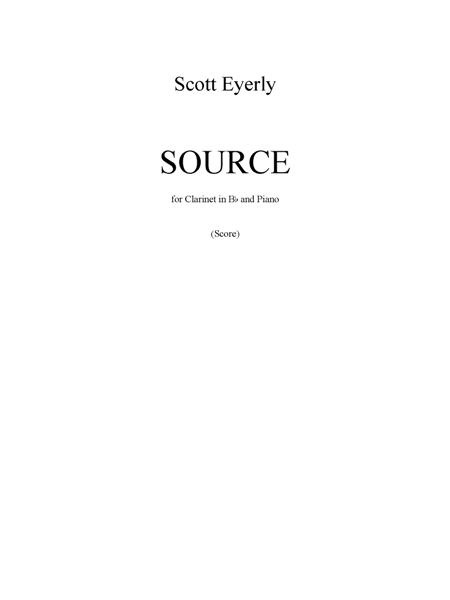 Source (score and part)