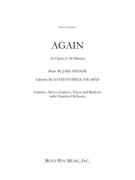 Again (piano/vocal score)