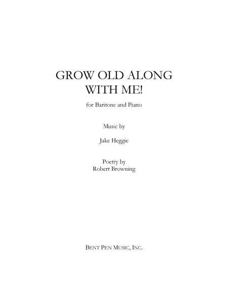 grow old with me sheet music pdf