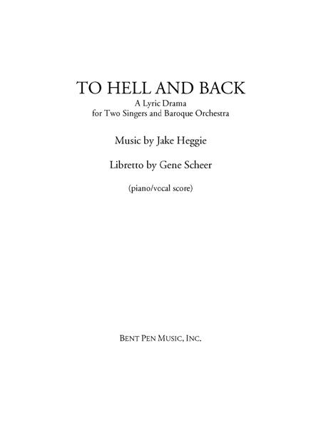 To Hell and Back (piano/vocal score)