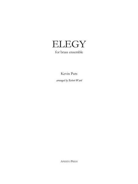 Elegy (score and parts)