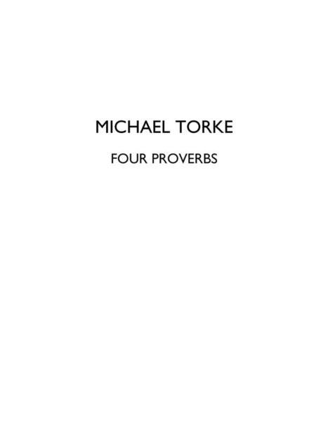 Four Proverbs (score)