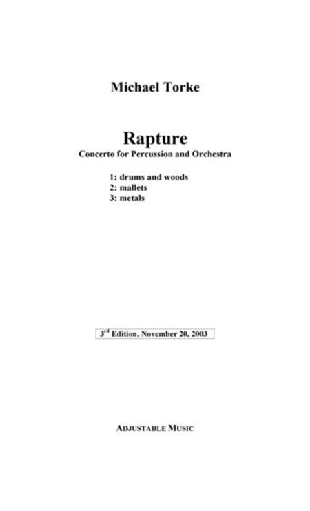 Rapture (orchestra version) (study score)