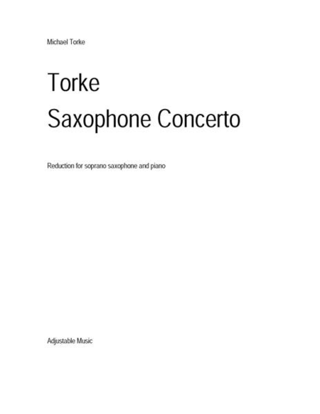 Saxophone Concerto (piano reduction)