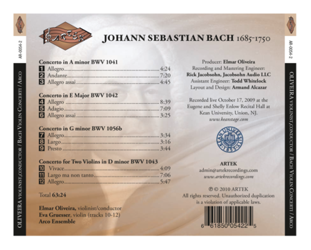 Violin Concerti of J.S. Bach