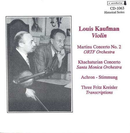 Louis Kaufman - Violin - Marti