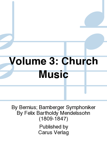 Volume 3: Church Music